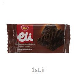 عکس بیسکوییتویفر شکلاتی لینا مدل الی40 گرمی