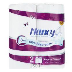 عکس دستمال کاغذیدستمال حوله کاغذی نانسی بسته 2 عددی