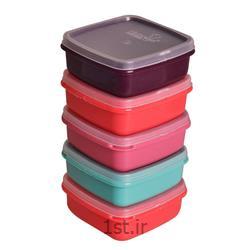 عکس سایر لوازم آشپزیظروف فریزری 5 تکه پلاستیکی مهروز