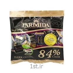 عکس شکلاتشکلات پاکتی 84 درصد تلخ 220 گرمی پارمیدا