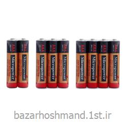 عکس سایر باتری ها (باطری ها)باتری نیم قلمی کربن زینک 4 عددی میکروپاور