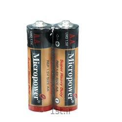 عکس سایر باتری ها (باطری ها)باتری کربن زینک نیم قلمی 6 عدد میکروپاور