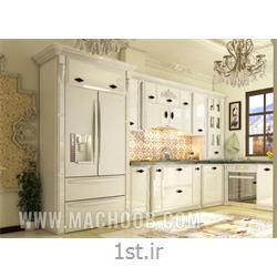 عکس کابینت آشپزخانهکابینت مدرن انزو سفید با قیمتی ویژه