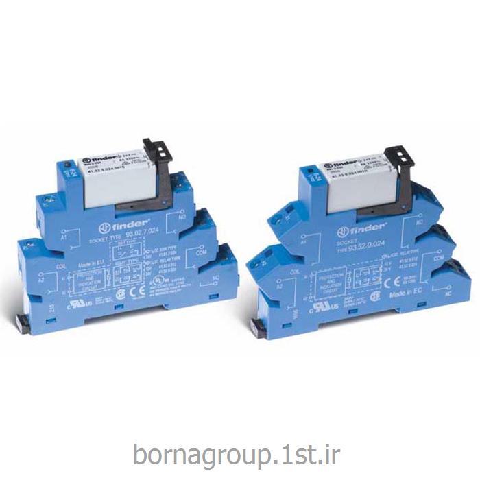 رله پی ال سی (plc) دو کنتاکت 8 آمپر فیندر (فایندر) finder ایتالیا مدل3852