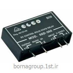 رله ssr (اس اس آر) سالید استیت 5 آمپر فوق باریک الکو elco ایتالیا LED دار مدل: SSR870