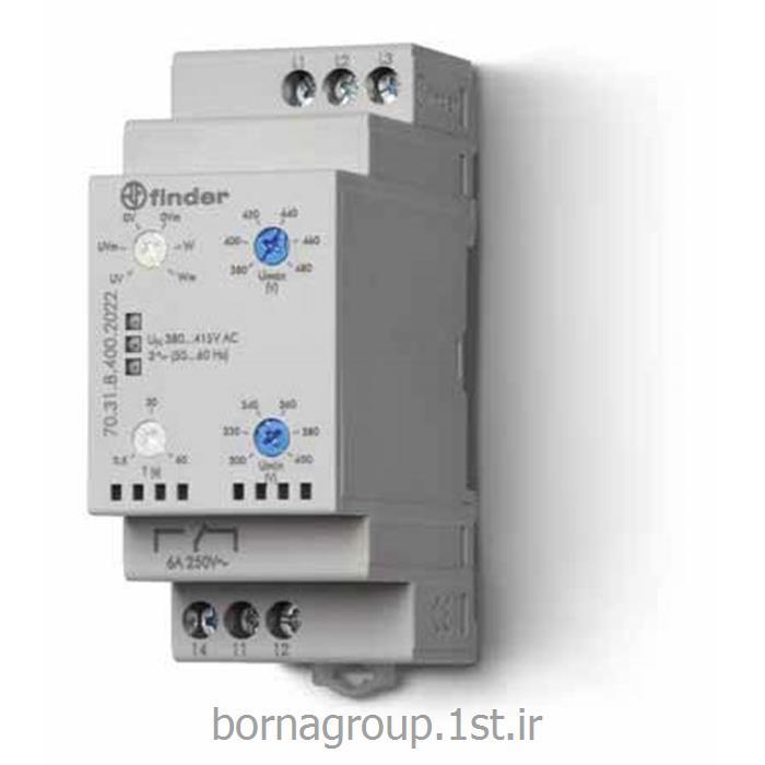 رله کنترل فاز 5 چراغ فیندر (فایندر) FINDER ایتالیا مدل : 70.31