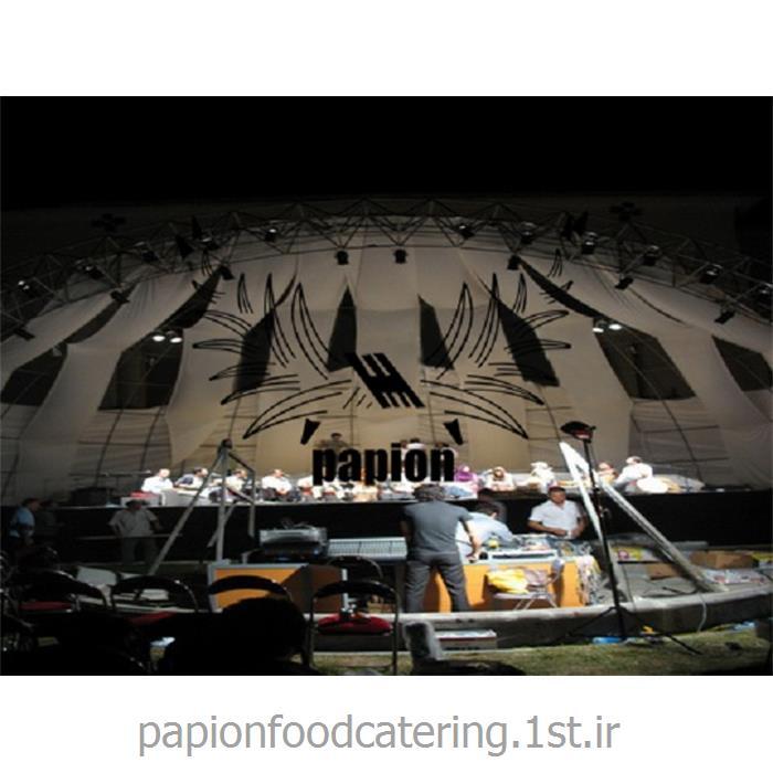 عکس سازه چادری نمایشگاهیچادر داربست کنسرت در فضای باز