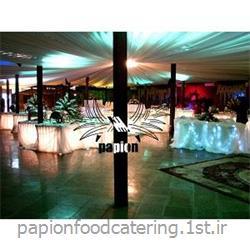 عکس طراحی روشنایی و نورپردازینورآرایی زیر میز شام