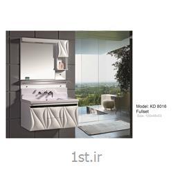 عکس کمد حمام و توالتکابینت تمام pvc دستشویی و حمام مدل KD 8016