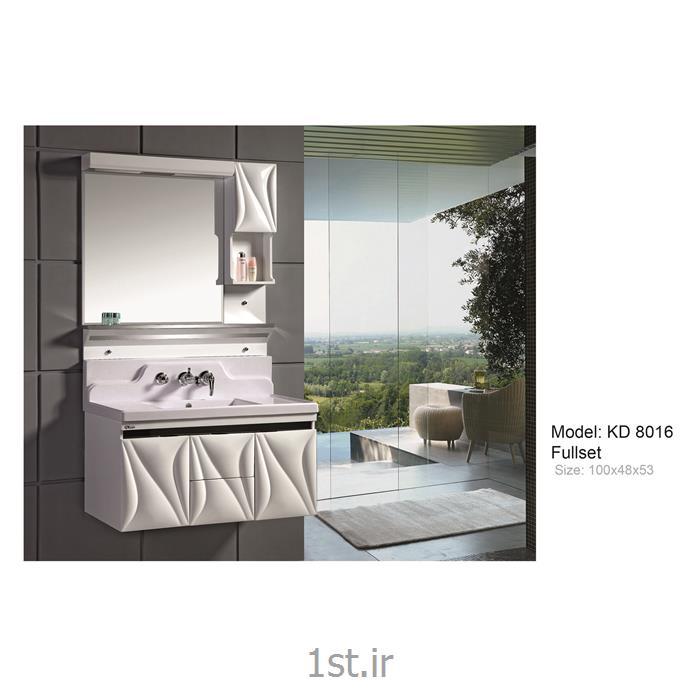 کابینت تمام pvc دستشویی و حمام مدل KD 8016