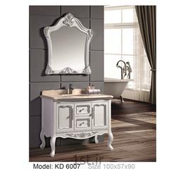 عکس کمد حمام و توالتکابینت تمام pvc دستشویی و حمام مدل KD 6007