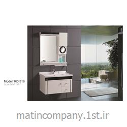 عکس کمد حمام و توالتکابینت تمام pvc دستشویی و حمام مدل KD 516