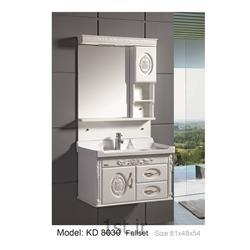 عکس کمد حمام و توالتکابینت تمام pvc دستشویی و حمام مدل KD 8030