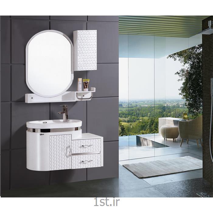 عکس ست لوازم بهداشتیکابینت تمام pvc روشویی و حمام