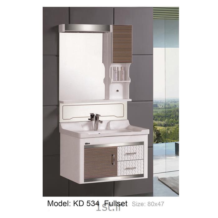 کابینت تمام pvc دستشویی و حمام مدل KD 534