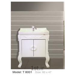 عکس کمد حمام و توالتکابینت تمام pvc دستشویی و حمام مدل 8001 T
