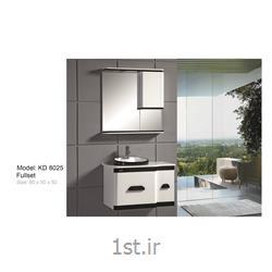 عکس کمد حمام و توالتکابینت تمام pvc دستشویی و حمام مدل KD 8025
