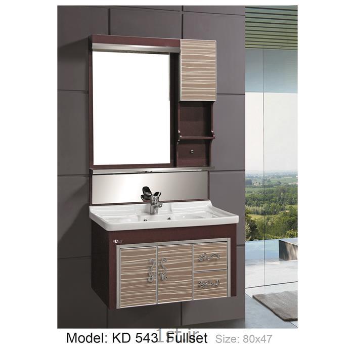 عکس کمد حمام و توالتکابینت تمام pvc دستشویی و حمام مدل KD 543