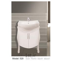 عکس کمد حمام و توالتکابینت تمام pvc دستشویی و حمام مدل 520