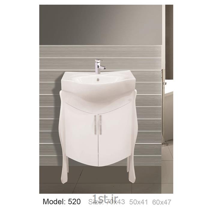 کابینت تمام pvc دستشویی و حمام مدل 520