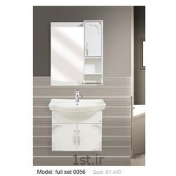 عکس کمد حمام و توالتکابینت تمام pvc دستشویی و حمام مدل 0056