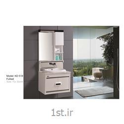 عکس کمد حمام و توالتکابینت تمام pvc دستشویی و حمام مدل KD 518