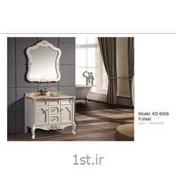 عکس کمد حمام و توالتکابینت تمام pvc دستشویی و حمام مدل KD 6009