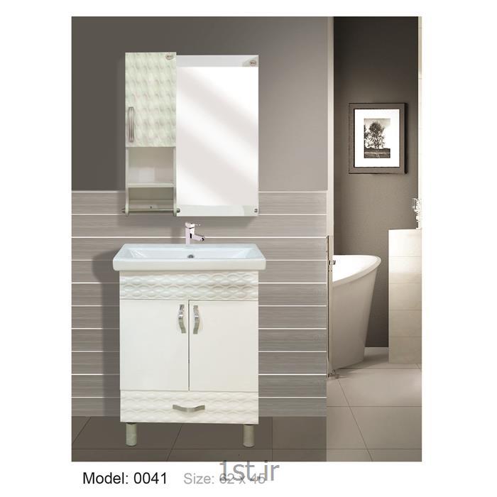 عکس کمد حمام و توالتکابینت تمام pvc دستشویی و حمام مدل 0041
