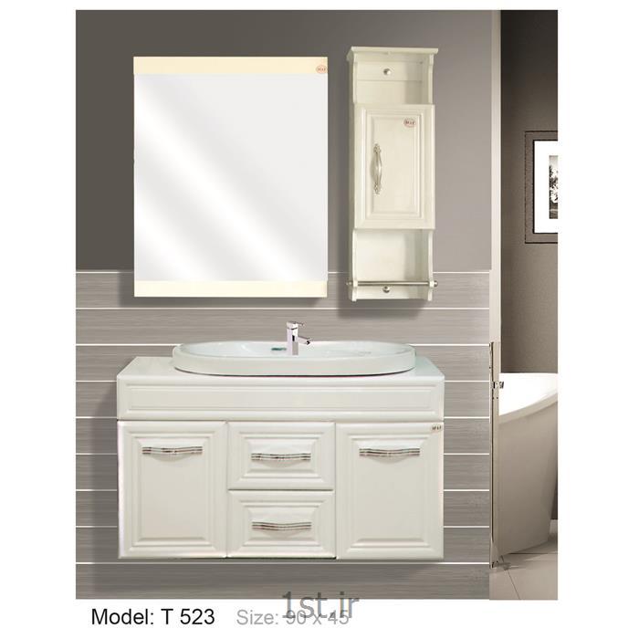 عکس کمد حمام و توالتکابینت تمام pvc دستشویی و حمام مدل 523 T
