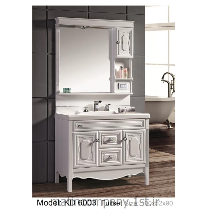 عکس کمد حمام و توالتکابینت تمام pvc دستشویی و حمام مدل KD 6003