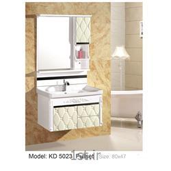 عکس کمد حمام و توالتکابینت تمام pvc دستشویی و حمام مدل KD 5023
