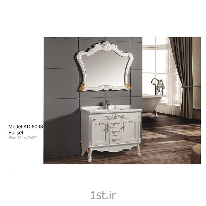 عکس کمد حمام و توالتکابینت تمام pvc دستشویی و حمام مدل KD 8003