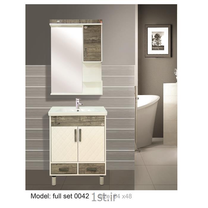 کابینت تمام pvc دستشویی و حمام مدل 0042