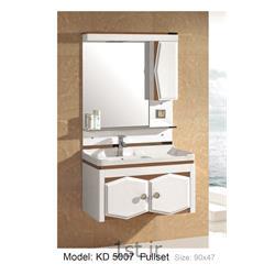 عکس کمد حمام و توالتکابینت تمام pvc دستشویی و حمام مدل KD 5007