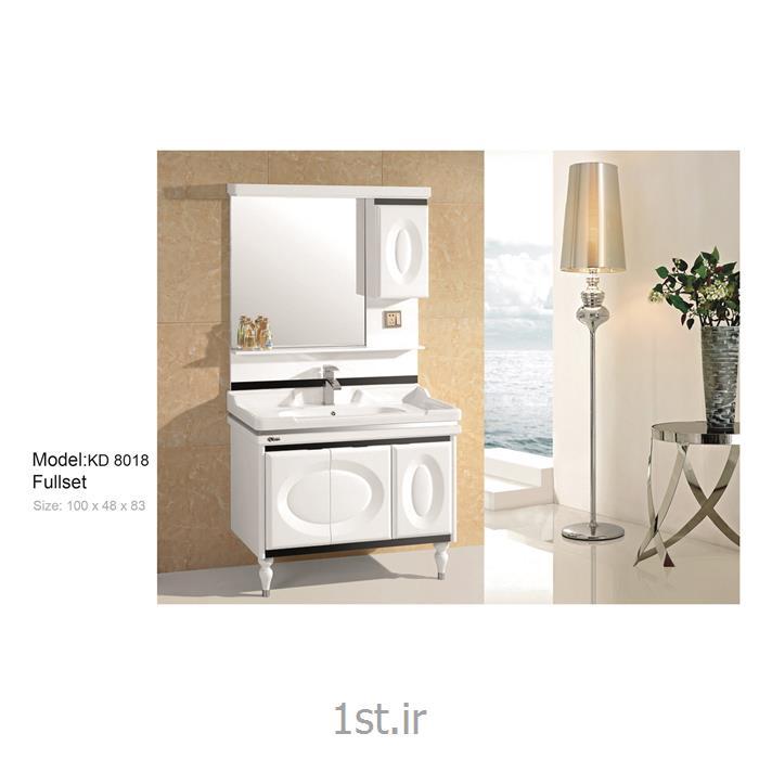 عکس کمد حمام و توالتکابینت تمام pvc دستشویی و حمام مدل KD 8018