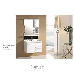 عکس کمد حمام و توالتکابینت تمام pvc دستشویی و حمام مدل KD 5020