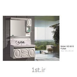 عکس کمد حمام و توالتکابینت تمام pvc دستشویی و حمام مدل KD 8015