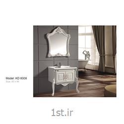 عکس کمد حمام و توالتکابینت تمام pvc دستشویی و حمام مدل KD 8008