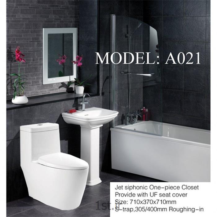عکس دستشویی فرنگیتوالت فرنگی یک تکه مدل A021