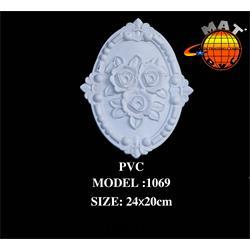 گل تزیین کابینت جنس PVC مدل 1069