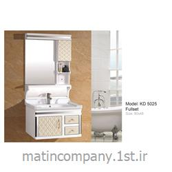 عکس کمد حمام و توالتکابینت تمام pvc دستشویی و حمام مدل KD 5025