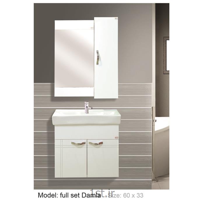 عکس کمد حمام و توالتکابینت تمام pvc دستشویی و حمام Damla