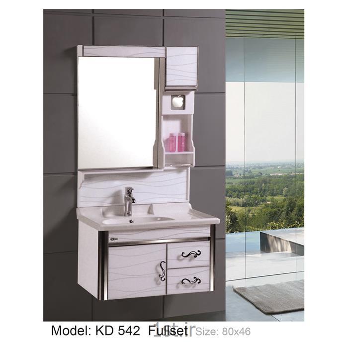 عکس کمد حمام و توالتکابینت تمام pvc دستشویی و حمام مدل KD 542