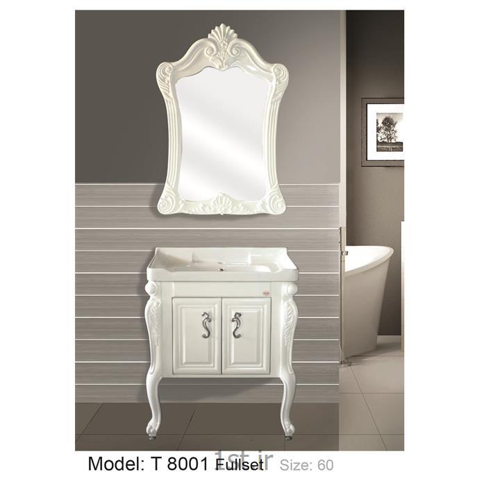 کابینت تمام pvc دستشویی و حمام مدل 8001 T