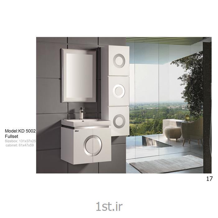 عکس کمد حمام و توالتکابینت تمام pvc دستشویی و حمام مدل KD 5002
