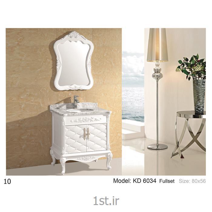 عکس کمد حمام و توالتکابینت تمام pvc دستشویی و حمام مدل KD 6034