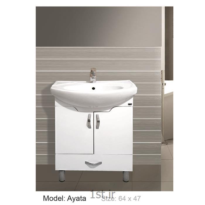 عکس کمد حمام و توالتکابینت تمام pvc دستشویی و حمام Ayata