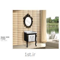 عکس کمد حمام و توالتکابینت تمام pvc دستشویی و حمام مدل 0035
