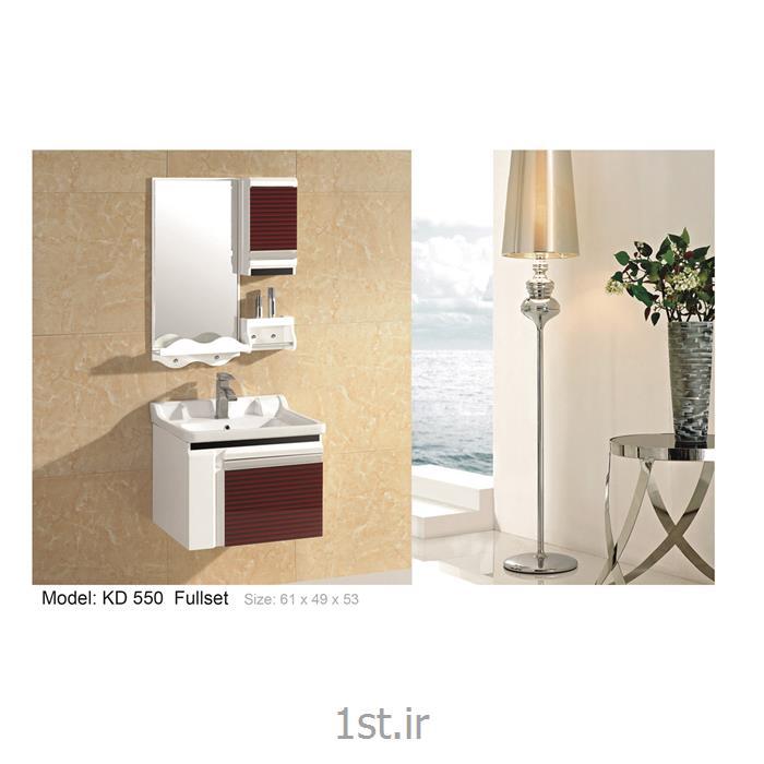 عکس کمد حمام و توالتکابینت تمام pvc دستشویی و حمام مدل KD 550