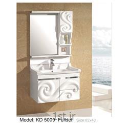 عکس کمد حمام و توالتکابینت تمام pvc دستشویی و حمام مدل KD 5009
